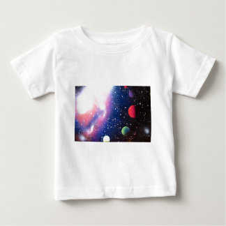 スプレー式塗料の芸術の宇宙の銀河系の絵画 ベビーTシャツ