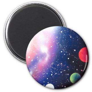 スプレー式塗料の芸術の宇宙の銀河系の絵画 マグネット