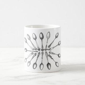 スプーンから コーヒーマグカップ