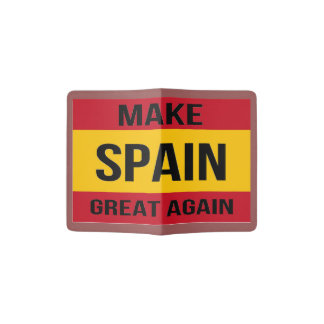 スペインにすばらしい- Bandera de Espanaaを再度作って下さい パスポートカバー