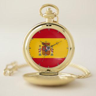スペインのが付いている愛国心が強い壊中時計 ポケットウォッチ