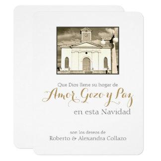 スペインのなカトリック教のカテドラル、プエルトリコのクリスマス カード