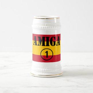 スペインのなガールフレンド: Amiga Numero Uno ビールジョッキ