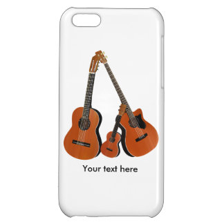 スペインのなギターの音響の低音およびウクレレ iPhone5C カバー