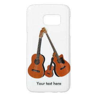 スペインのなギターの音響の低音およびウクレレ SAMSUNG GALAXY S7 ケース