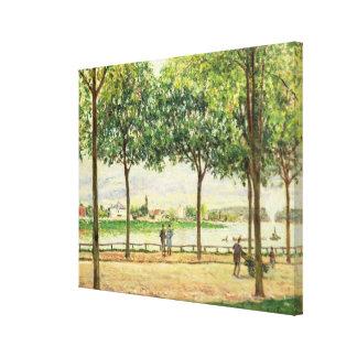 スペインのなクリの木のアルフレッド・シスレー|の通り キャンバスプリント
