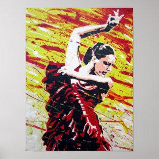 スペインのなダンサー ポスター