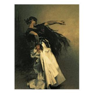 スペインのなダンサー、「El Jaleo」のための勉強、1882年 ポストカード