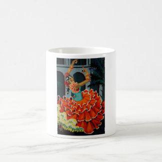 スペインのなフラメンコのダンサーのマグ コーヒーマグカップ
