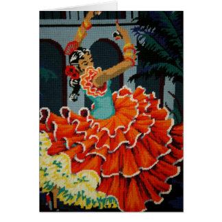 スペインのなフラメンコのダンサーカード カード