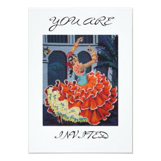 スペインのなフラメンコのダンサー招待されられた招待状です カード