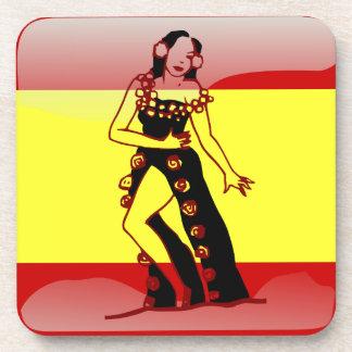 スペインのな光沢のある旗 コースター