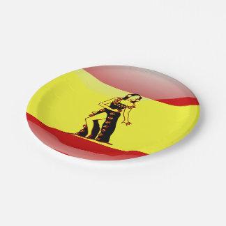スペインのな光沢のある旗 ペーパープレート