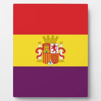 スペインのな共和党の旗- Bandera República España フォトプラーク