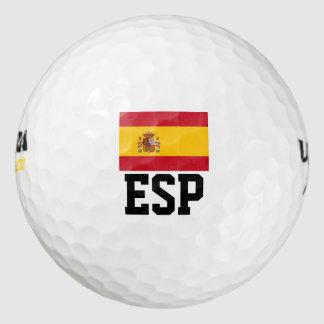スペインのな旗のゴルフ・ボールは|スペインのゴルフをするプライドを置きました ゴルフボール