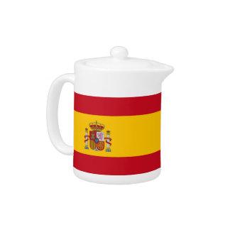 スペインのな旗のティーポット