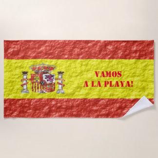 スペインのな旗のデザイン ビーチタオル