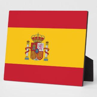 スペインのな旗のプラク フォトプラーク