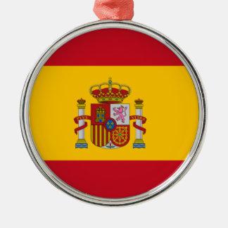 スペインのな旗 メタルオーナメント