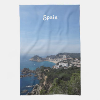 スペインのな海岸の眺め キッチンタオル