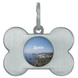 スペインのな海岸の眺め ペットネームタグ