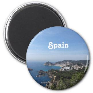 スペインのな海岸の眺め マグネット