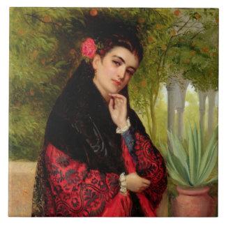スペインのな美しい1872年(キャンバスの油) タイル
