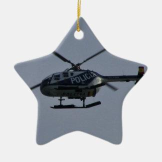 スペインのな警察のヘリコプター セラミックオーナメント