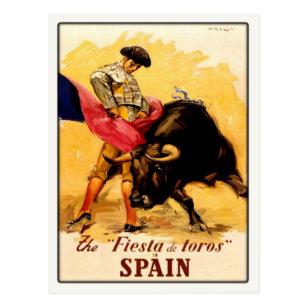 スペインのな闘牛ポスターが付いている郵便はがき ポストカード