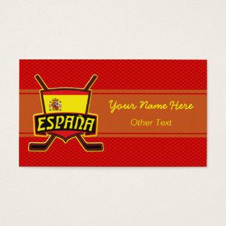 スペインのアイスホッケーのカスタムな名刺 名刺