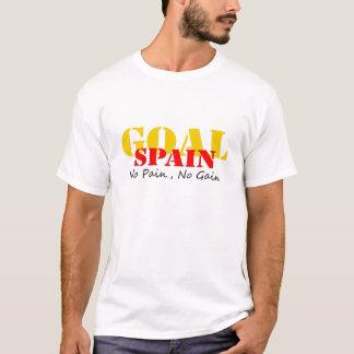 スペインのサッカーのゴール苦痛無し利益無し Tシャツ