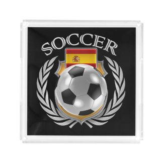 スペインのサッカー2016ファンのギア アクリルトレー