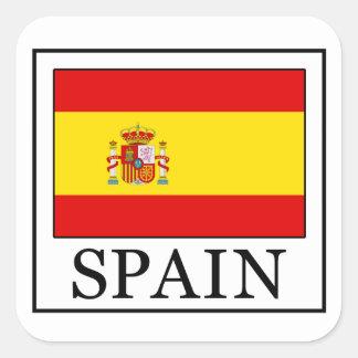 スペインのステッカー スクエアシール