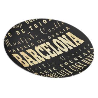 スペインのタイポグラフィの芸術のバルセロナ都市 プレート