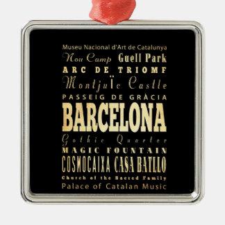 スペインのタイポグラフィの芸術のバルセロナ都市 メタルオーナメント