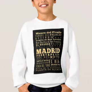 スペインのタイポグラフィの芸術のマドリード都市 スウェットシャツ