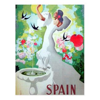 スペインのヴィンテージの郵便はがき ポストカード