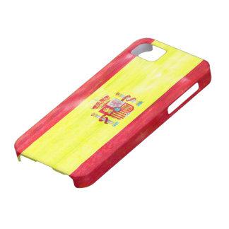 スペインの動揺してでスペインのな旗 iPhone SE/5/5s ケース