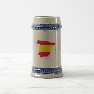 スペインの地図の旗 ビールジョッキ