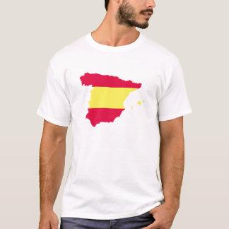 スペインの地図の旗 Tシャツ