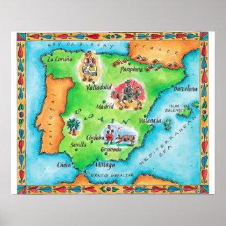 スペインの地図 プリント