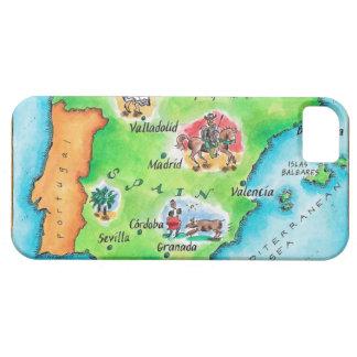 スペインの地図 iPhone SE/5/5s ケース