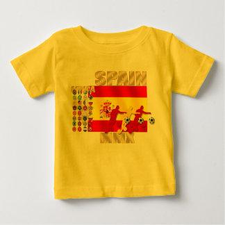 スペインの大きい旗のアフリカMMXのサッカーのfutbolのギフト ベビーTシャツ