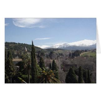 スペインの山脈のLaのアルハンブラの眺め カード