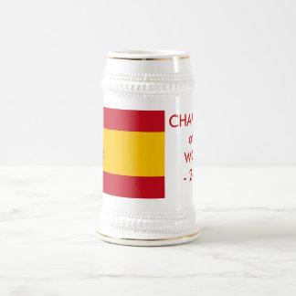 スペインの旗が付いているマグ ビールジョッキ