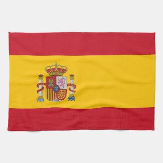 スペインの旗が付いている台所タオル キッチンタオル
