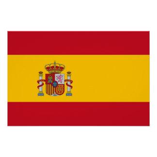 スペインの旗が付いている愛国心が強いポスター ポスター