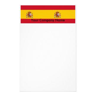 スペインの旗が付いている文房具 便箋