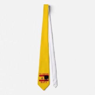 スペインの旗とのVamos Rafa ネクタイ