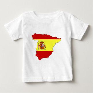スペインの旗の地図 ベビーTシャツ